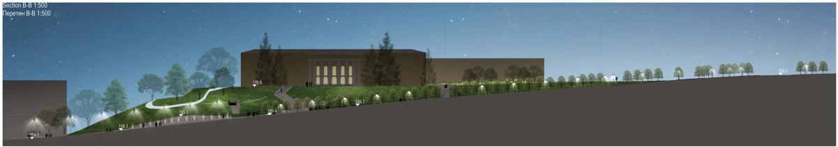 Кадр із графічної презентації проєкту Національного меморіалу Героїв Небесної Сотні